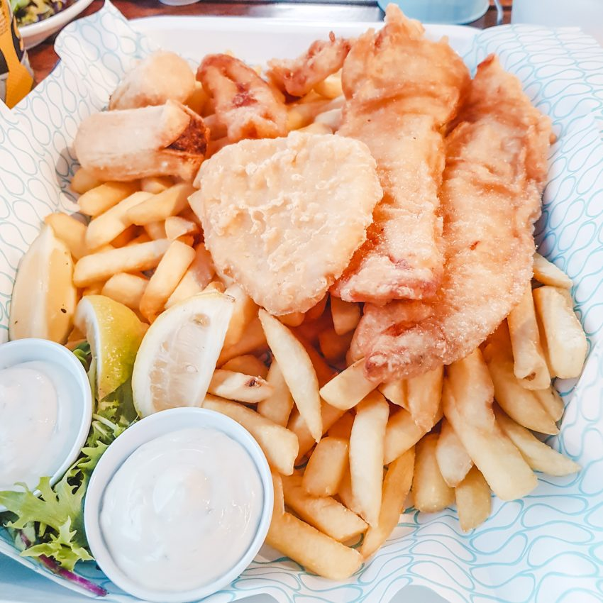 Coupled Up fish and chips from Hunky Dory in Richmond, Melbourne