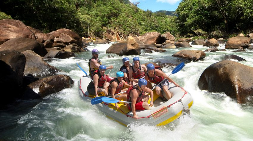 Things to do in Cairns - go white water rafting on the Tully River