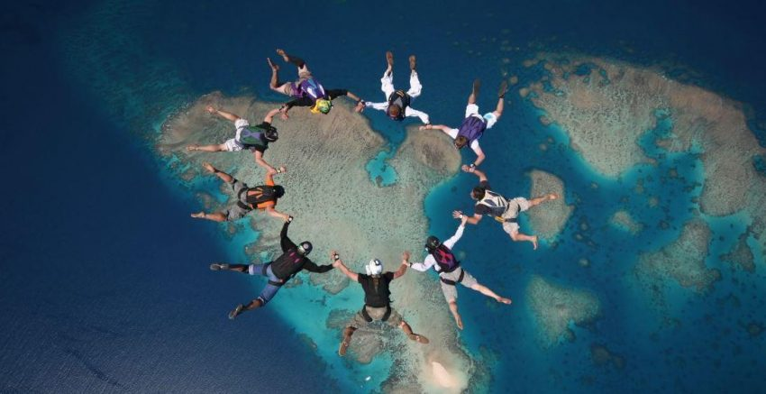 Things to do in Cairns - skydive over the Great Barrier Reef