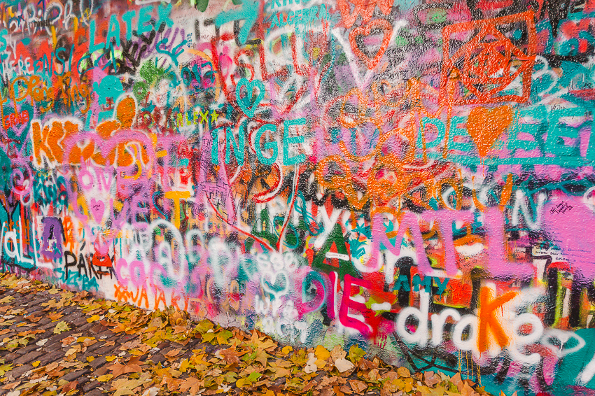 Things to do in Prague - take a photo at the Lennon Wall