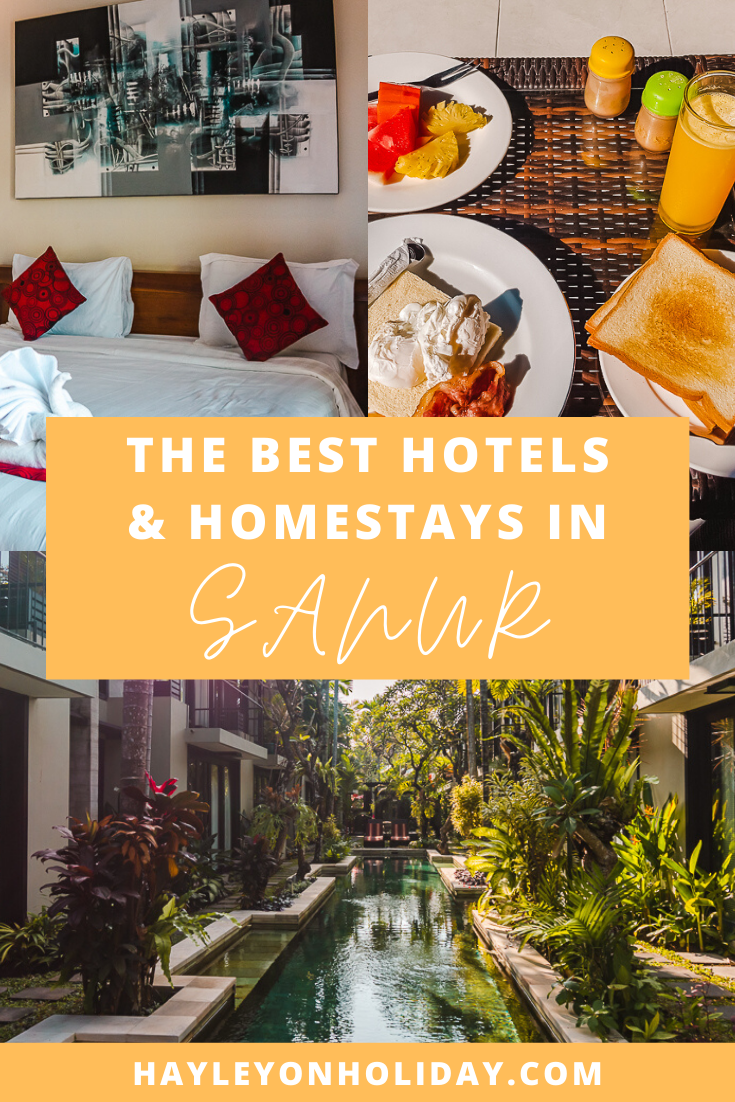 Sanur accommodation guide: the best homestays and hotels in Sanur Bali.