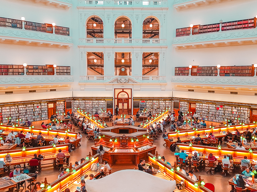 Free things to do in Melbourne: visit the La Trobe Reading Room at the State Library of Victoria