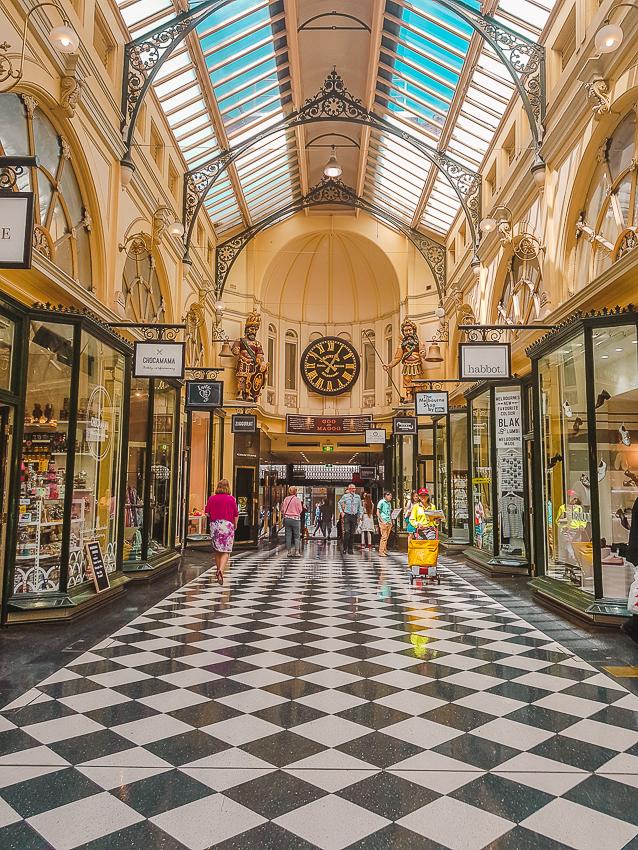The historic Block Arcade in Melbourne