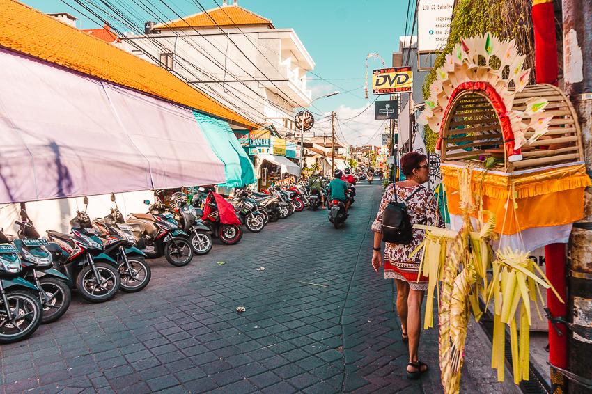 Garlic Lane in Legian, Bali