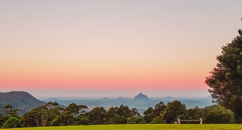 Glass House Mountains on the Sunshine Coast in Queensland, Australia