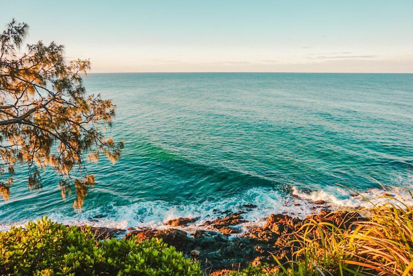 Golden Hour in Coolum Beach on the Sunshine Coast in Queensland, Australia