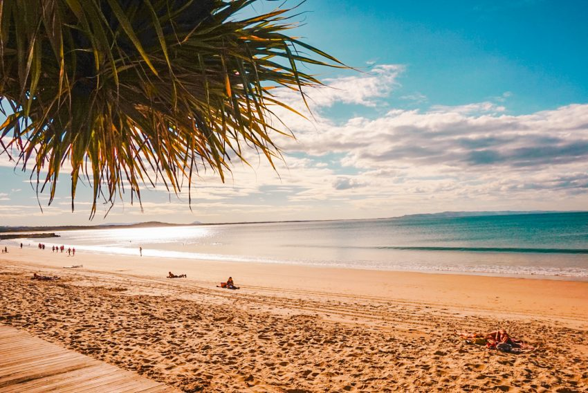 Noosa Beach on the Sunshine Coast in Queensland, Australia