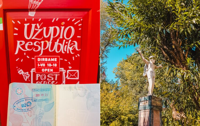 Visiting Užupis - a Republic within Vilnius, Lithuania