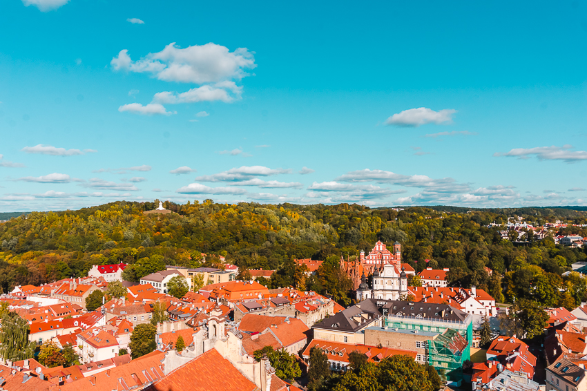 Don't miss the view from the Bell Tower of St John's Church in Vilnius, Lithuania