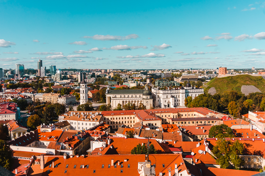Don't miss the view from the Bell Tower of St John's Church in Vilnius, Lithuania, one of Europe's top solo travel destinations.