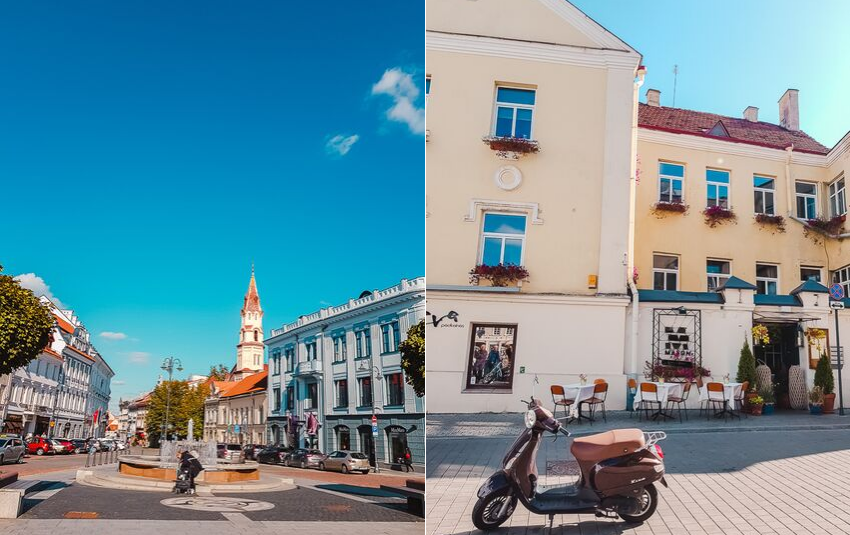 The picturesque Old Town in Vilnius, Lithuania