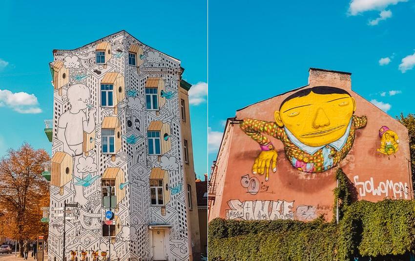 Spotting street art in Vilnius, Lithuania