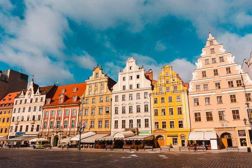 Where to visit in 2020 - the colourful buildings in Wrocław, Poland