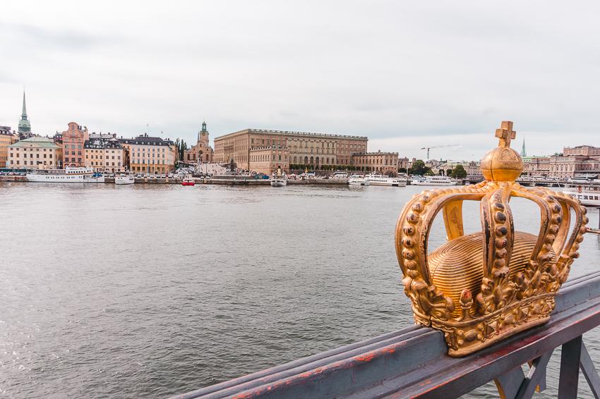 Skeppsholmsbron in Stockholm, Sweden
