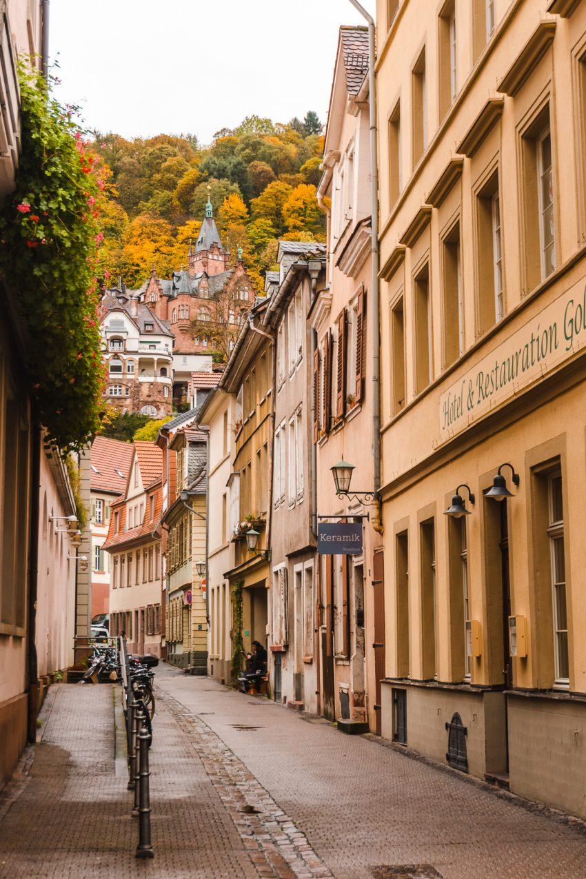 Laneway off Hauptstraße in Heidelberg, Germany