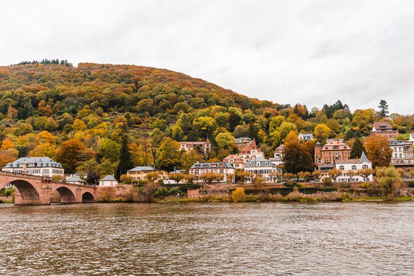 River views in Heidelberg, Germany