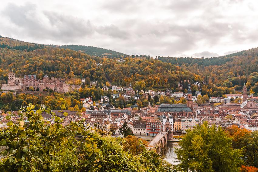 Schlangenweg viewpoint in Heidelberg, Germany