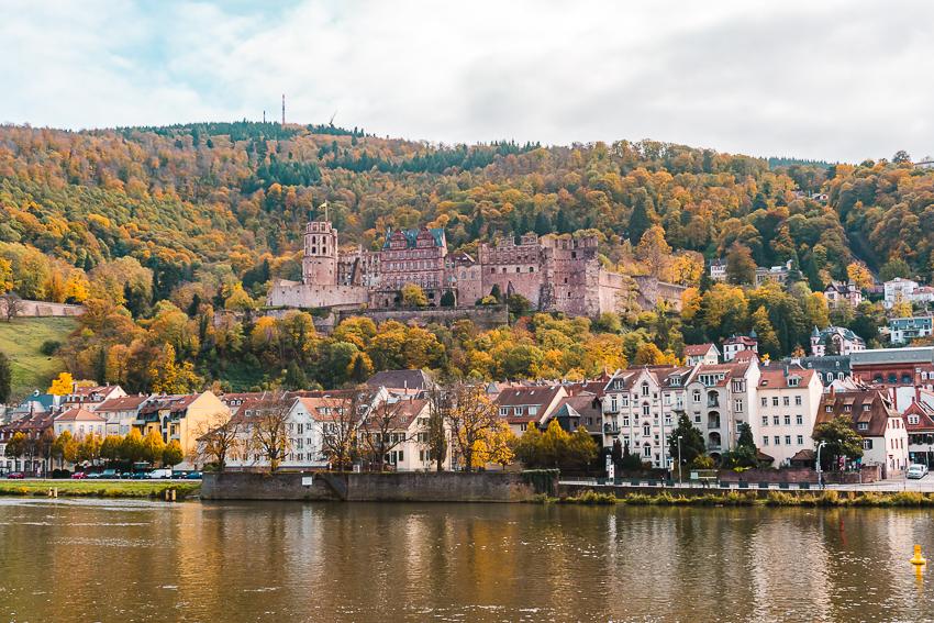 Heidelberg Castle views from the Old Bridge