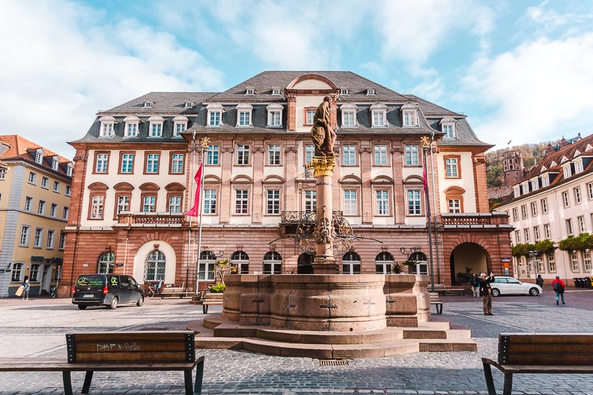 Historic building in Heidelberger Marktplatz in Heidelberg, Germany