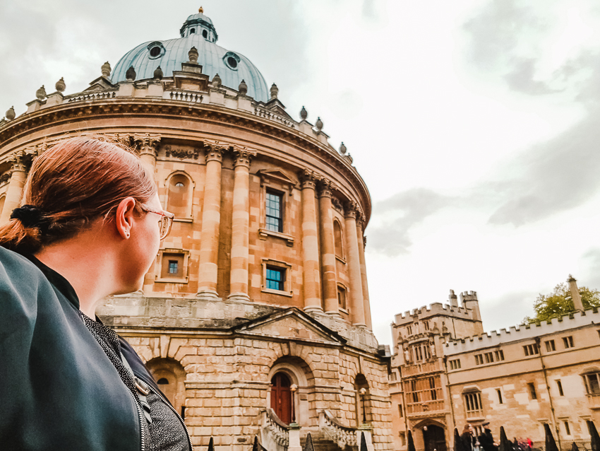 Myself looking towards Radcliffe Camera in Oxford, England