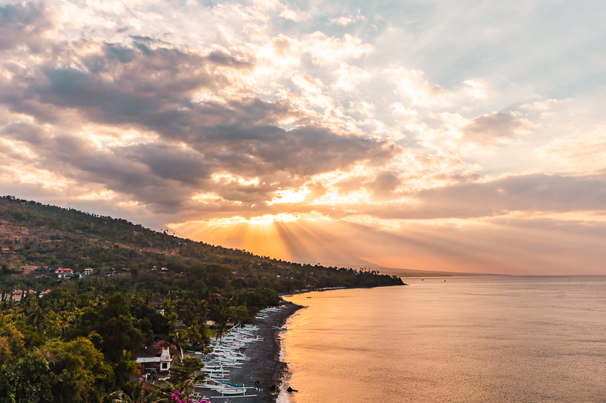 Things to do in Amed, Bali - sunset drinks at Waeni's Sunset VIew Restaurant