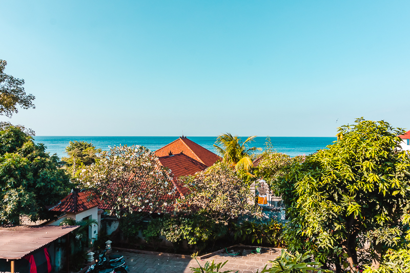 Ocean views from Fishermen's Guesthouse in Amed, Bali