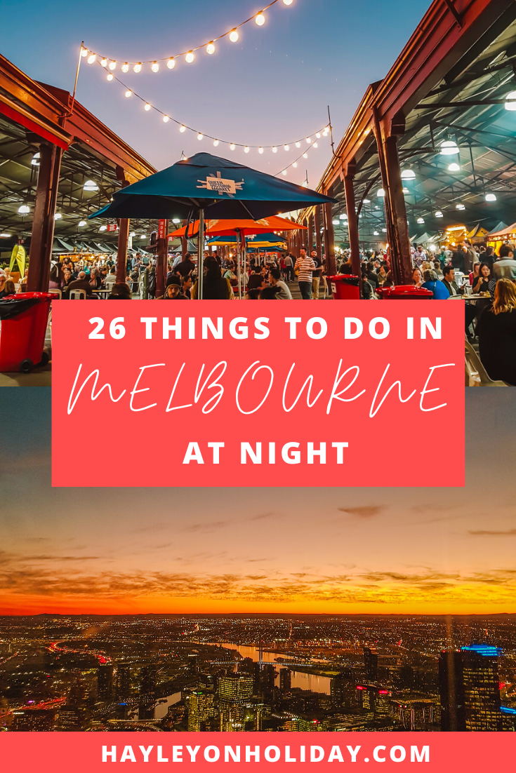 26 things to do in Melbourne at night