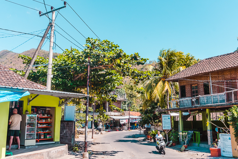 The main street of Amed, Bali