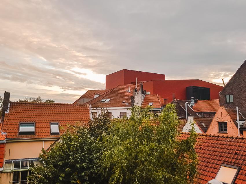 View from Lybeer Hostel Bruges, Belgium