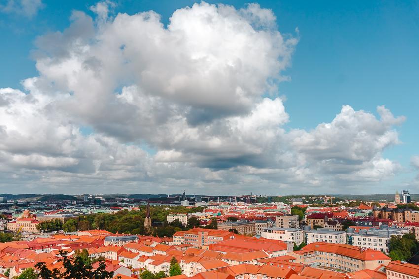 The view over Gothenburg from Skansen Kronan