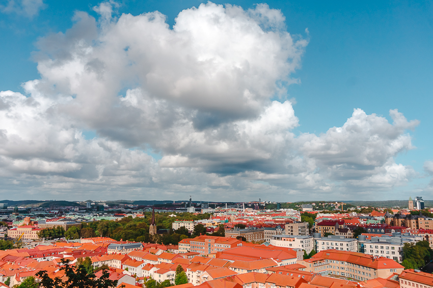 The view over Gothenburg from Skansen Kronan