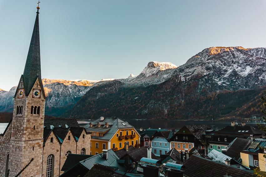 Views from the Parish Church of the Assumption of Mary in Hallstatt, Austria