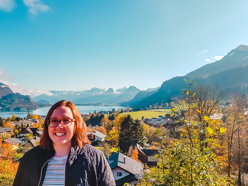 Lake Wolfgang in Austria - a stop on an organised day trip from Salzburg to Hallstatt.
