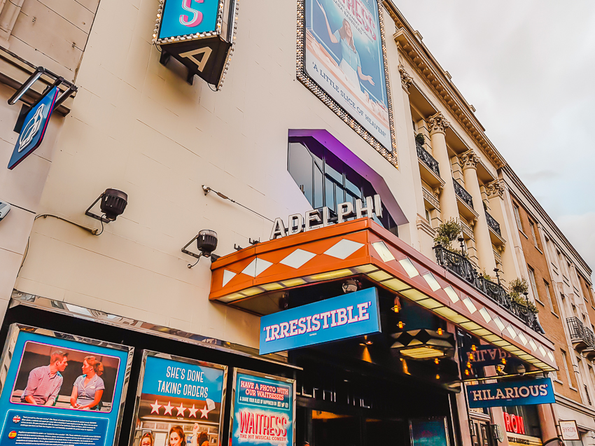 Seeing Waitress at the Adelphi Theatre in London, England