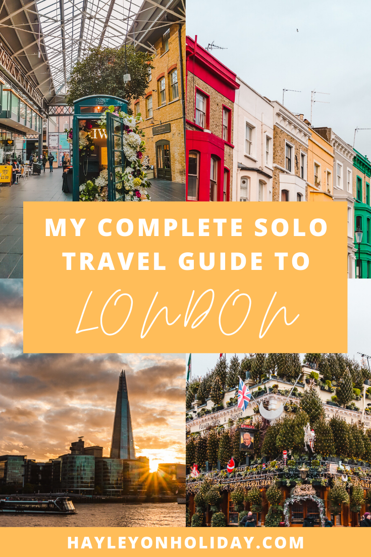 My complete solo travel guide includes the best things to do alone in London, England.