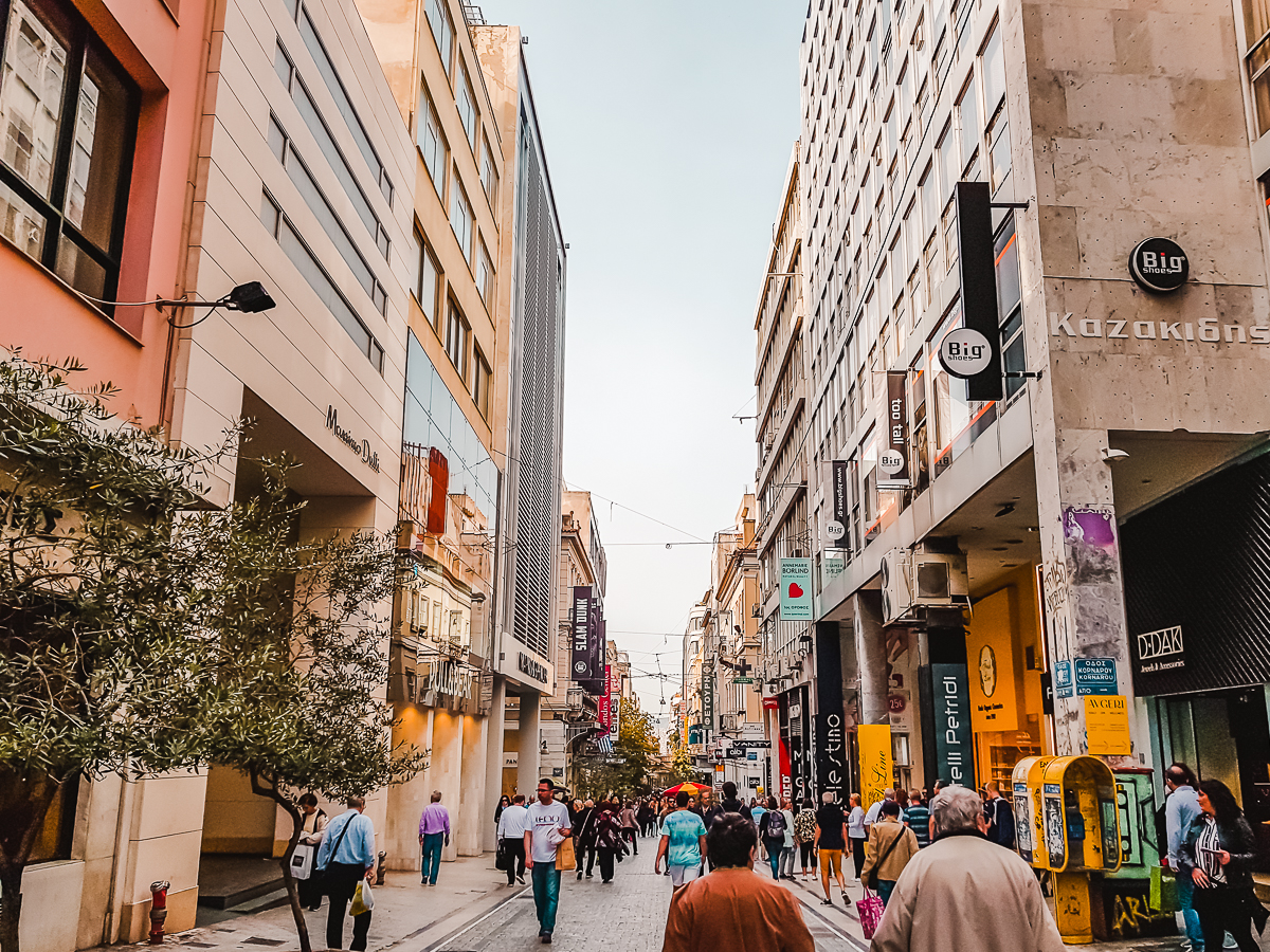 Things to do in Athens in November - go shopping along Ermou Street