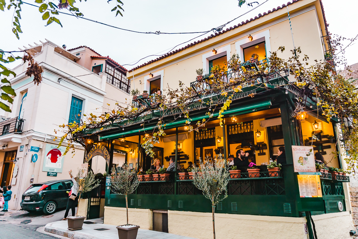 A restaurant in Plaka, Athens