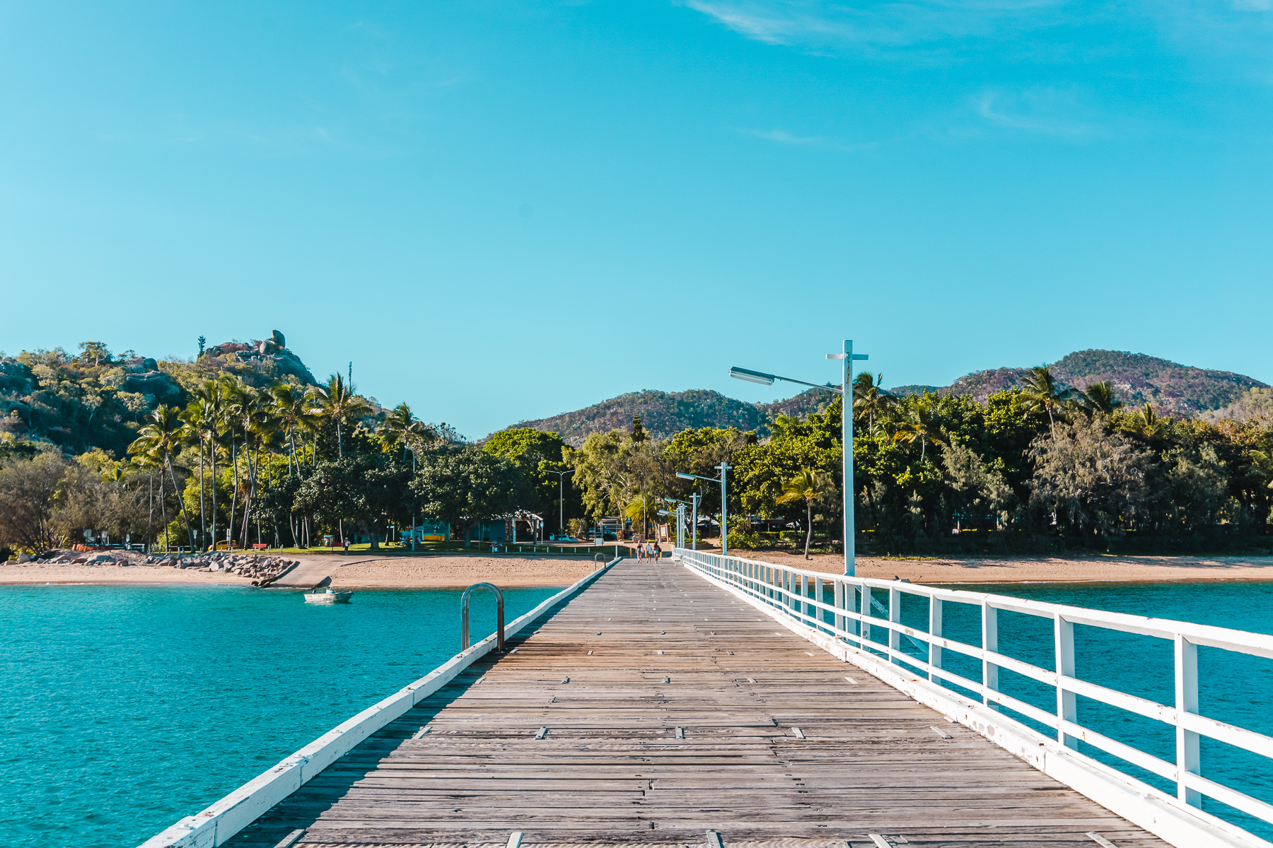 Standing on Picnic Bay Jetty looking towards Magnetic Island National Park