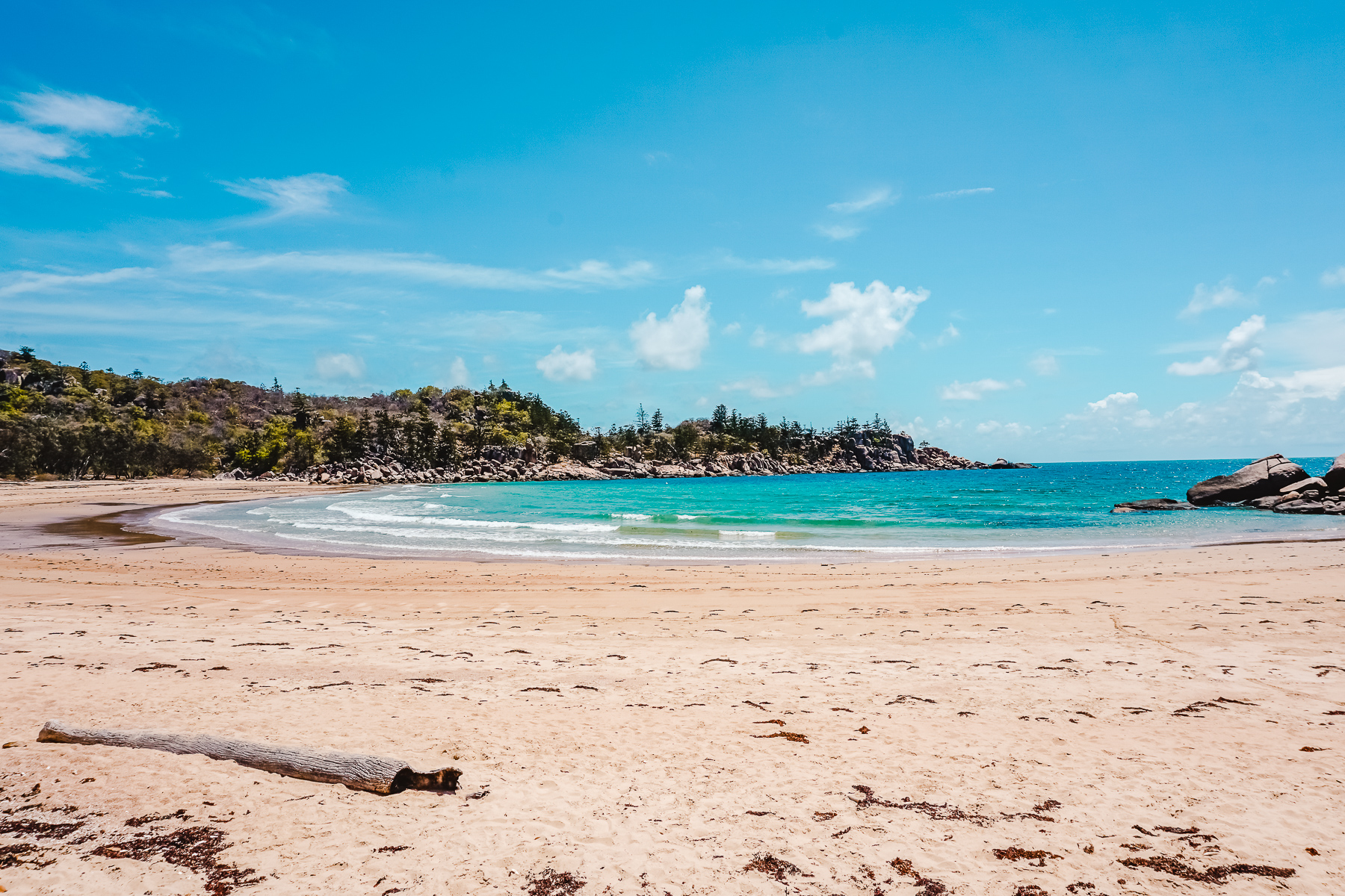 Golden sand and turquoise waters of Florence Bay, Magnetic Island