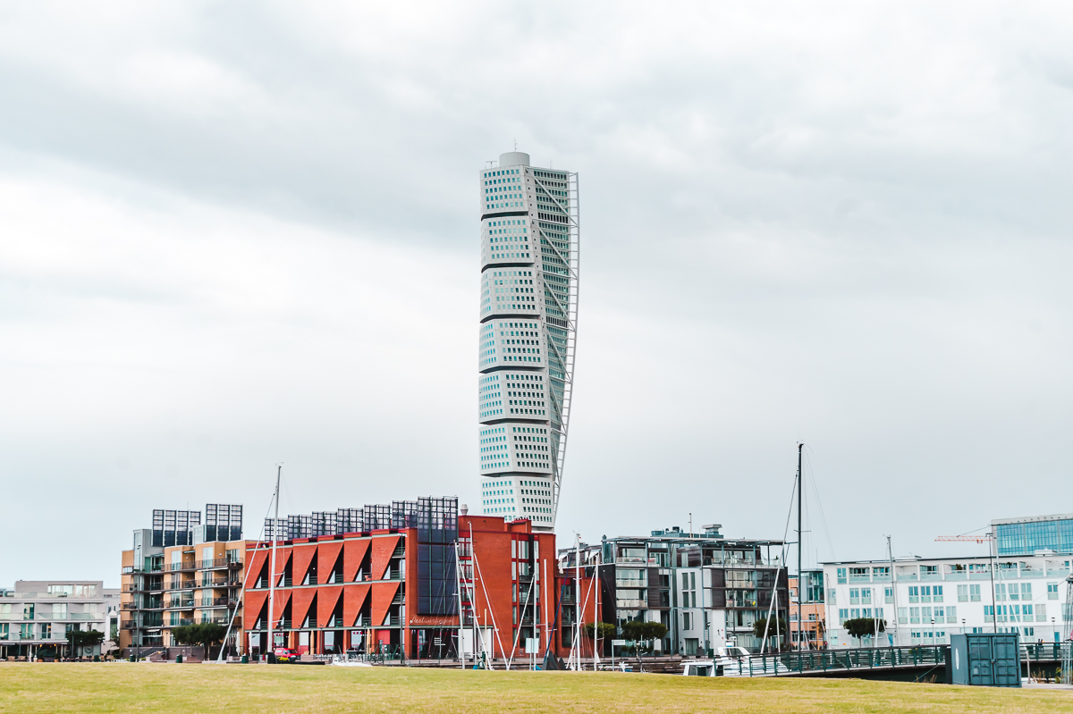 The unique Turning Torso building in Vastra Hamnen