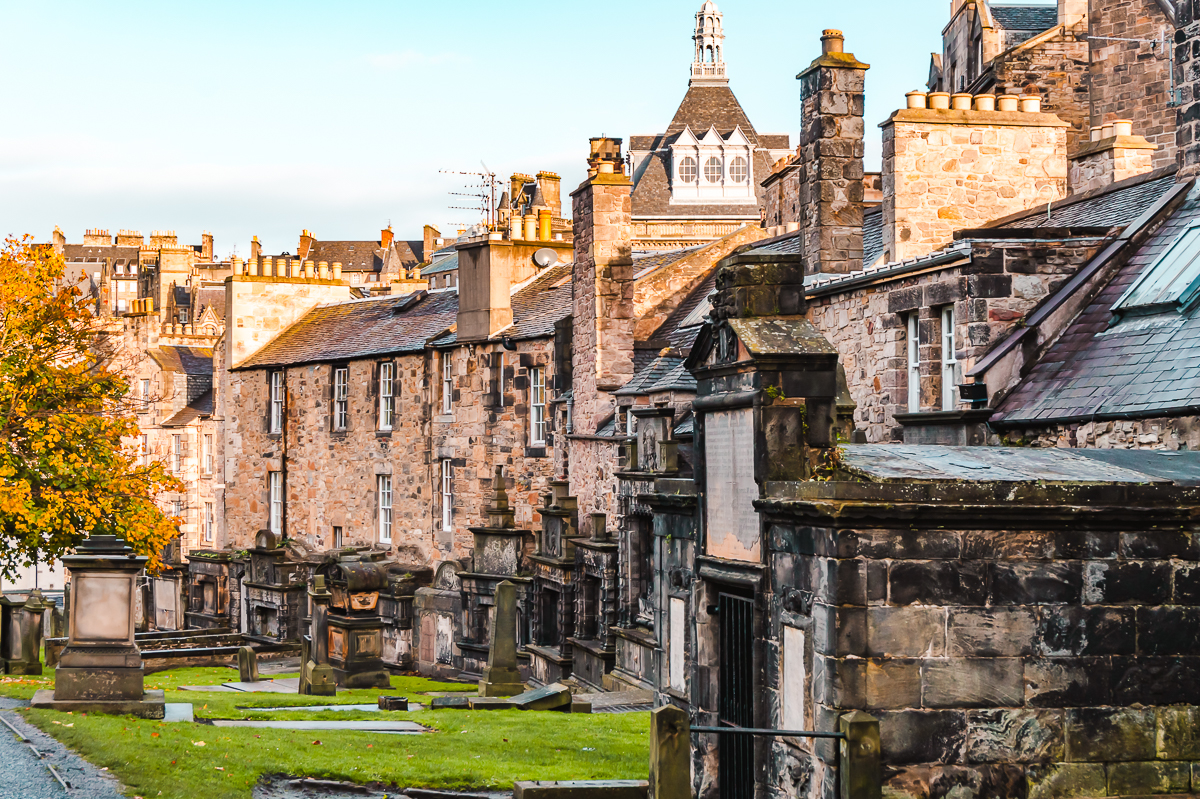 Greyfriars Kirkyard in Edinburgh - a place to visit on a Harry Potter tour.