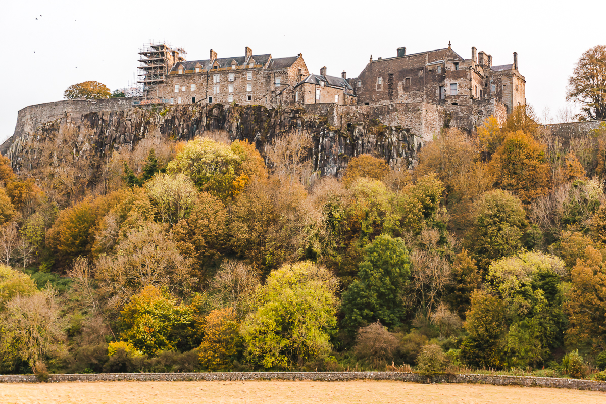 Clifftop Stirling Castle in Scotland