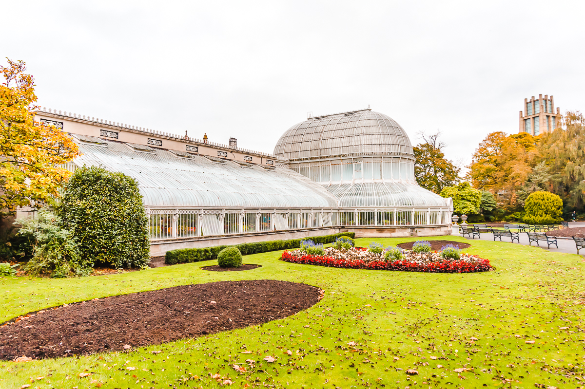Historic Palm House building in Belfast Botanic Gardens (free things to do in Belfast).