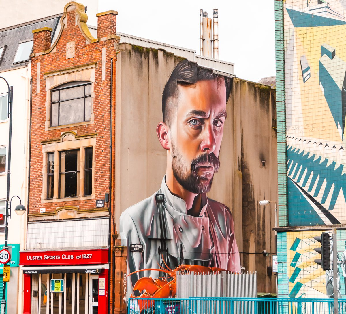 Street art in Belfast, Northern Ireland (free things to do in Belfast).