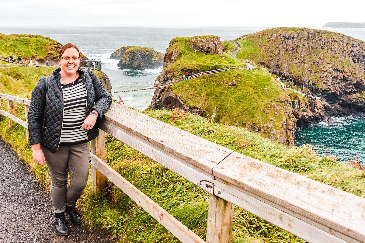 Carrick-a-Rede rope bridge near Belfast, Ireland