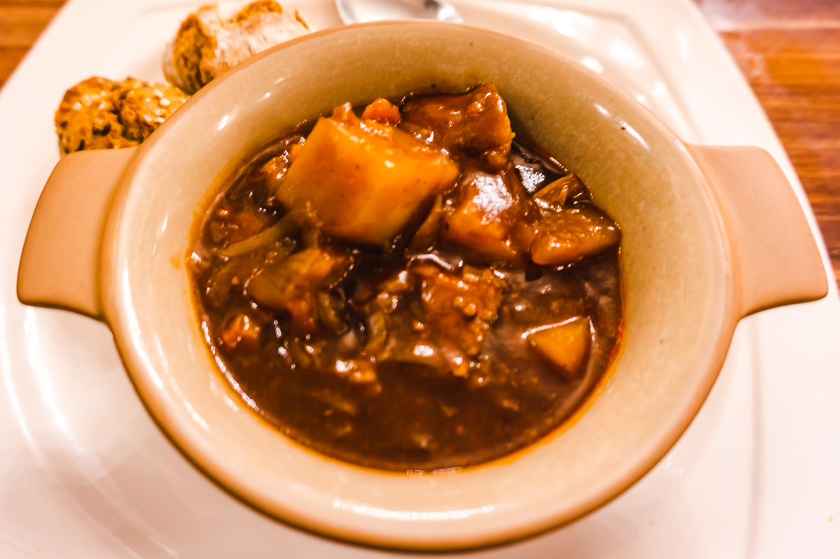 Irish stew from Crown Liquor Saloon in Belfast