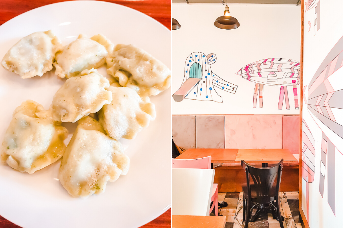 Pierogies in Wroclaw, Poland. Milk Bars are great places to eat for cheap on your Wroclaw city break!