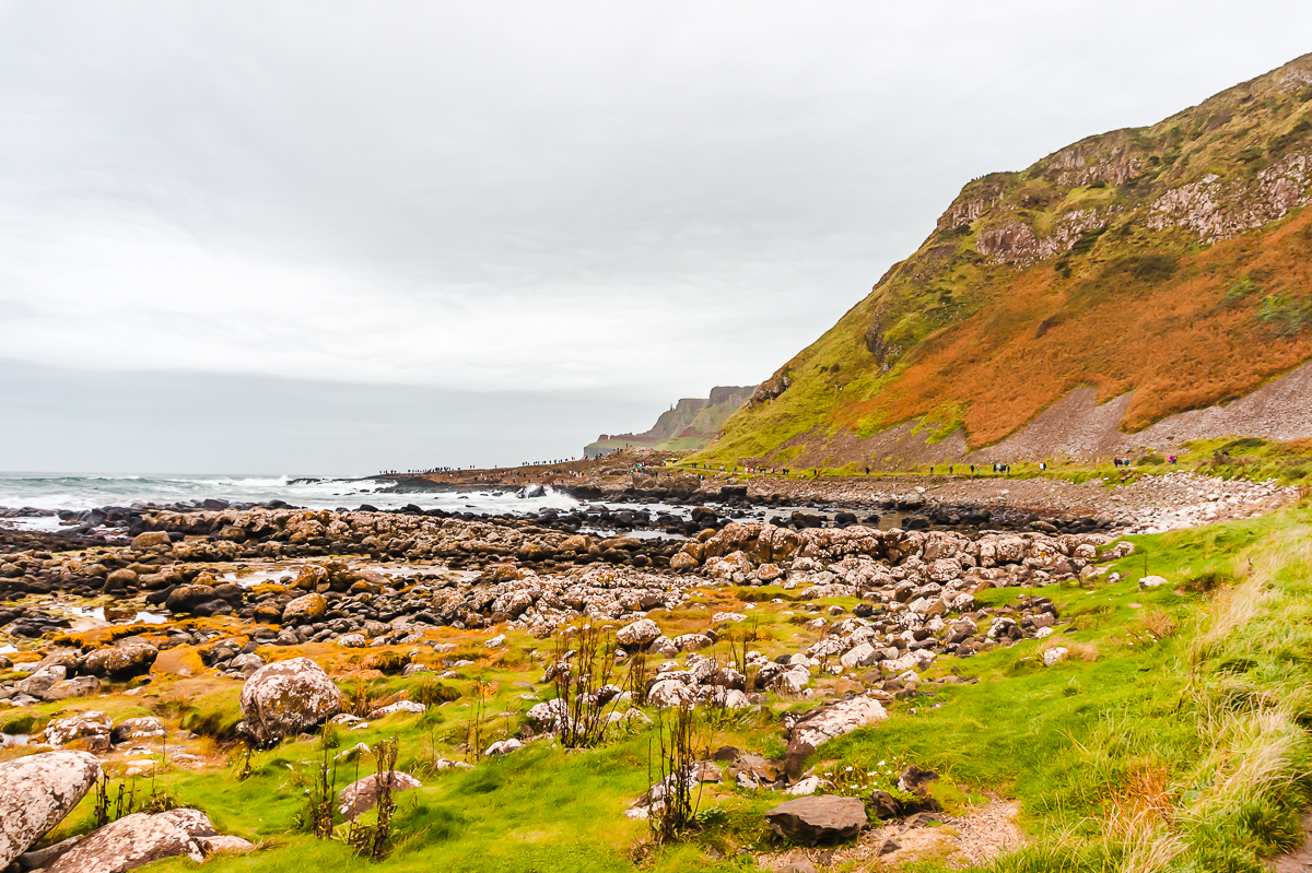 Rocky and rugged landscape at Giant's Causeway in Belfast, Northern Ireland