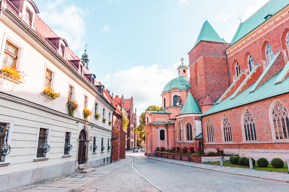Outside the Cathedral of St John the Baptist in Wroclaw, Poland.