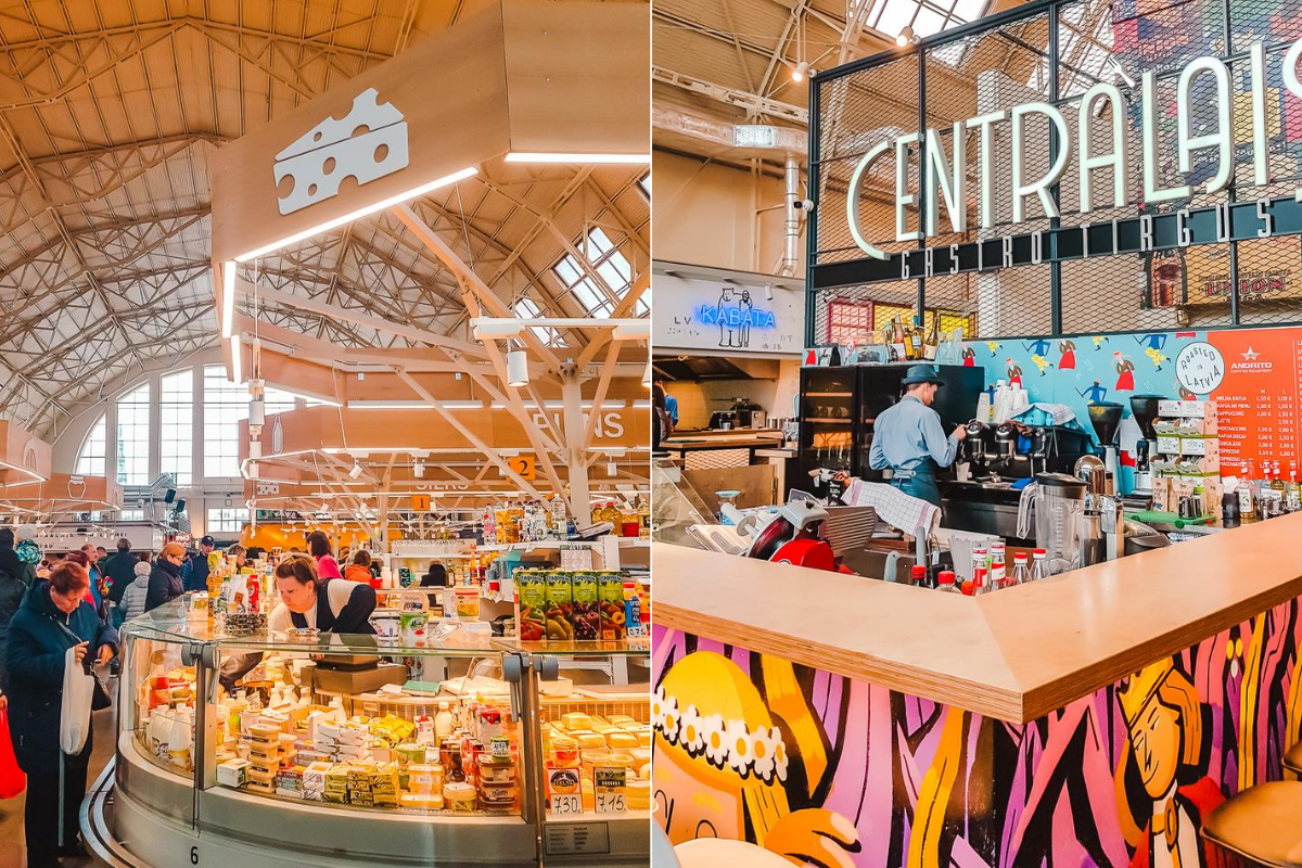 Inside the Central Market in Riga, Latvia. Don't miss it during your weekend in Riga.